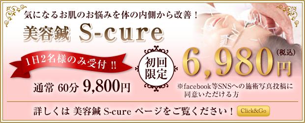 美容鍼初回限定6,980円