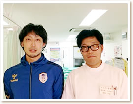 宮竹春紀選手2ショット写真