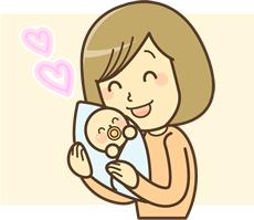産後の女性イラスト